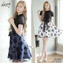 キャバ ドレス フラワー Aライン ミニ ドレス | ドレス キャバ キャバドレス 大きいサイズ ドレス ワンピース ミニド…