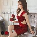 キャバ ドレス シアー デザイン フラワー レース タイト ミニ ドレス [Petit Madeleine]   ドレス キャバ キャバドレス 大きいサイズ ドレス ワンピース ミニドレス セクシー