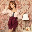 キャバ ドレス クラシカル フリル ロング スリーブ タイト ミニ ドレス | ドレス キャバ キャバドレス 大きいサイズ …