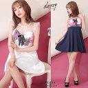 キャバ ドレス ブローチ 付 花柄 デコルテ シアー Aライン ミニ ドレス | ドレス キャバ キャバドレス 大きいサイズ …