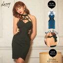 キャバ ドレス てんちむ着用 サイド シースルー クロス デザイン タイト ミニ ドレス | ドレス キャバ キャバドレス …