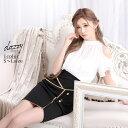キャバ ドレス シフォン オープン ショルダー タイト ミニ ドレス   ドレス キャバ キャバドレス 大きいサイズ ドレス…