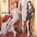 キャバ ドレス フロント ジップ フラワー タイト ロング ドレス[MOARADY] | キャバ キャバドレス 大きいサイズ ドレス…