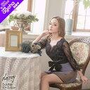 キャバ ドレス フラワー シースルー レース スリット シアー タイト ミニ ドレス | ドレス キャバ キャバドレス 大き…