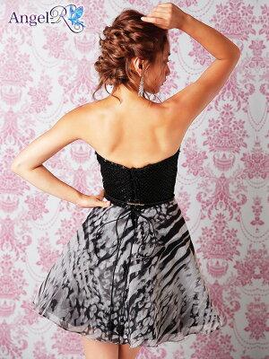 [送料無料]ドレスキャバキャバドレス[AngelR]ベルト付アニマル柄ビジューストーンベアフレアミニドレスAラインミニドレス[灰色ピンク黒][アニマル柄豹柄][キャバドレス大人女性]dazzyストア