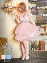 ドレス キャバドレス ナイトドレス 大きいサイズ [SM/Mサイズ]パステルカラービジューあみあげベアAラインミニドレス[…