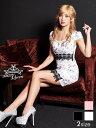 [10月上旬頃発送/予約販売] ドレス キャバドレス ナイトドレス ☆[S/Mサイズ]花柄タイトミニドレス[dazzyQueen]●[岩…
