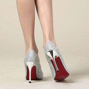 オープントゥパンプス靴レディースキャバ10cmヒールビジュー美脚パンプスハイヒール[シンプル][白黒金シルバー][厚底ドレスキャバ美脚][35363738サイズ展開]ポールダンスイベントdazzyストア
