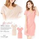 キャバ ドレス キャバドレス ワンピース 大きいサイズ Vカット ワンカラー タイト ミニドレス S M L LL 3L ピンク ベ…