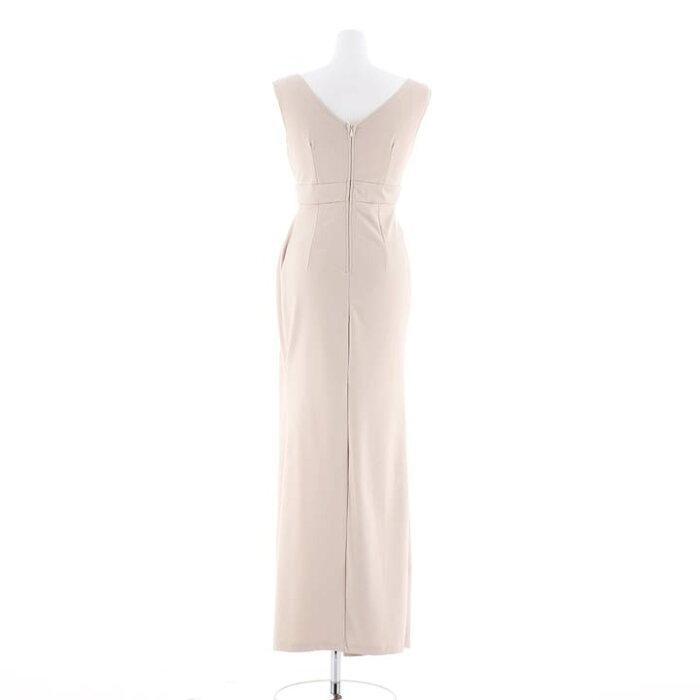キャバドレスキャバドレスワンピースナイトドレス大きいサイズスリットタイトロングドレスSML黒ベージュシンプル無地ハイウエスト杉山佳那恵レディース女性dazzyQueenノースリーブ
