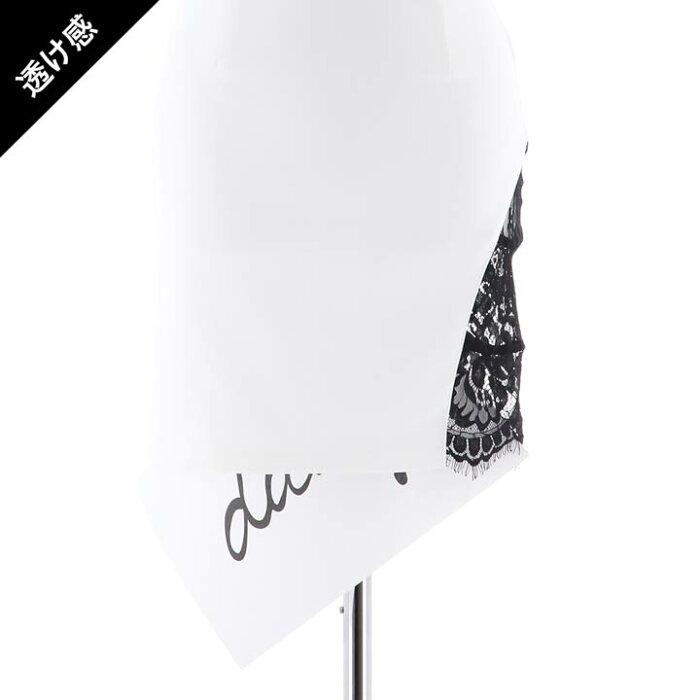 キャバドレスキャバドレスワンピースナイトドレス大きいサイズウエストカットバイカラータイトミニドレスSML白黒モノトーン透けスリットシンプル無地杉山佳那恵レディース女性dazzyQueenオフショル