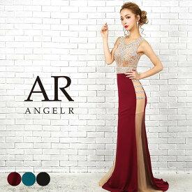 a5ee780925684  送料無料  ドレス キャバ AngelR トップス スカート サイド シアー ビジュー タイト ロングドレス