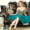 【送料無料】 キャバ ドレス ハートカット ビジュー フレア ミニ ドレス [AngelR]| ドレス ワンピース ミニドレス セ…