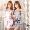 キャバ ドレス フロント ジップ 水彩 フラワー 柄 タイト ミニ ドレス | ドレス キャバ キャバドレス 大きいサイズ ド…
