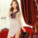 キャバ ドレス ワンカラー スカーフ 風 タイト ミニ ドレス | ドレス キャバ キャバドレス 大きいサイズ ドレス ワン…