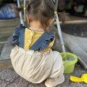 【BabyRito】プレイウェア お砂場着 レインウェア レインコート 砂遊び 公園着 撥水 雨 水遊び ロング丈かぼちゃパン…