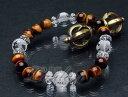◆四神相応ブレス◆四神・水晶10mmAAA、タイガーアイ8mmAAA【2110-10-003-0】天然石 パワーストーン ブレスレット ブレス 四神獣