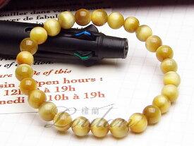 ゴールドタイガーアイ(金虎目石)6mmAAA【和龍ブレス 2100-06-408-0】天然石 パワーストーン ブレスレット ブレス