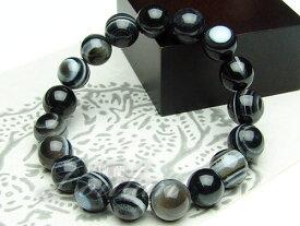 黒天眼石(ブラックアイアゲート)10mmAAA【和龍ブレス 2100-10-107-0】天然石 パワーストーン ブレスレット ブレス