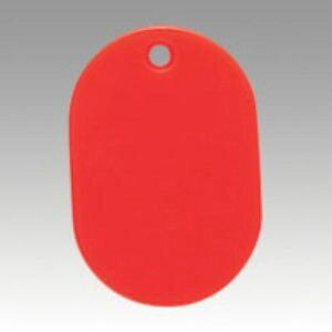 [クラウン]番号札 無地〔大50枚〕 赤 CR-BG40-R