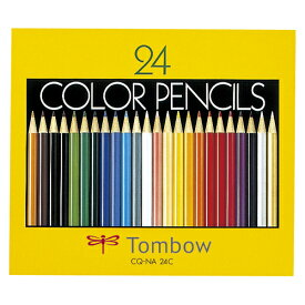 [トンボ鉛筆]色鉛筆紙箱24色NA CQ-NA24C