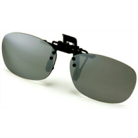 AXE 偏光サングラス クリップサングラス AS-7P-SV シルバーミラー 偏光グラス ゴルフ UV カット 跳ね上げ メガネの上からサングラス