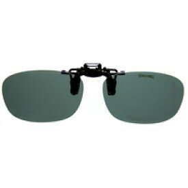 偏光サングラス クリップサングラス CP-9SM2 [フリップアップ] 偏光スモーク2 スポルディング 偏光グラス ゴルフ UV カット 跳ね上げ メガネの上からサングラス