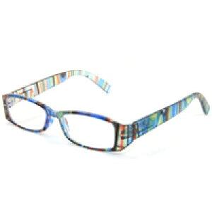 リーディンググラス 老眼鏡 [シニアグラス] 専用ケース付き RP399 マルチブルー カラフル 女性 おしゃれ