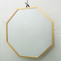 吊鏡ハンガーミラー開運ミラー八角形風水ミラー[鏡]ゴールドL