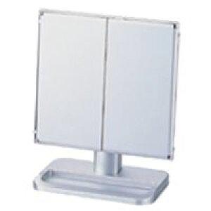 卓上 三面鏡 ヤマムラ 卓上ミラー スタンドミラー [鏡] シルバー 台付き 扉式