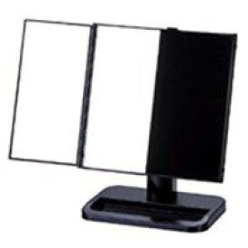 卓上 三面鏡 ヤマムラ 卓上ミラー スタンドミラー [鏡] ブラック 台付き 扉式 クリスマスプレゼント