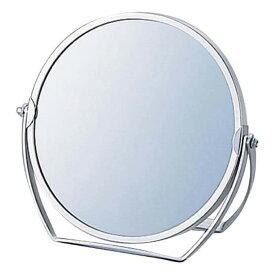 卓上ミラー 拡大鏡 メイク スタンドミラー 卓上 ヤマムラ [鏡] 3倍拡大鏡 メイク [拡大ミラー] 付き 丸型 老眼 クリスマスプレゼント