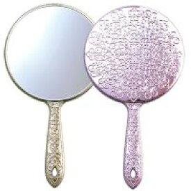 手鏡 メッキハンドミラー L 姫系 デコラティブ キラキラ ミラー [鏡] メイク用