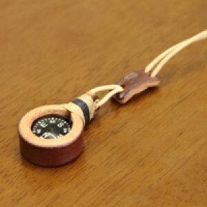 ペンダント コンパス 方位磁石 20mm 牛革 麻ひも 手作り ハンドメイド おしゃれ 方位磁針 ネックレス アウトドア 防災 登山