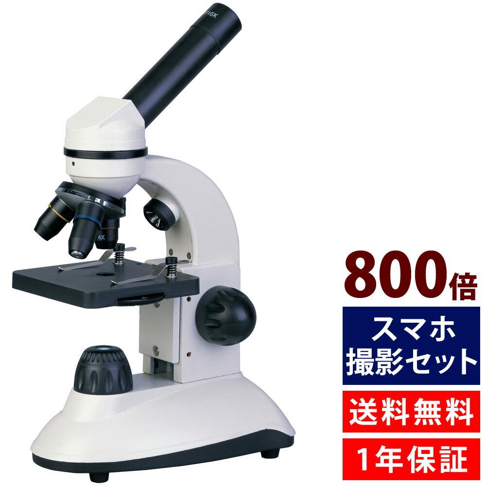 学習用 顕微鏡 小学生 スマホ撮影セット 2WAY マイクロスコープ 40X-800X #800 子供 自由研究 生物顕微鏡 10歳以上