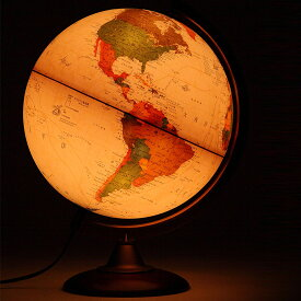地球儀 [ライト付き] インテリア アンティーク 子供用 学習 行政図 25cm イタリア製 おしゃれ おすすめ クリスマスプレゼント