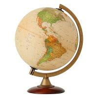 地球儀インテリアアンティーク子供用学習行政図25cmイタリア製