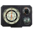 コンパス 方位磁石 高度計 気圧計 温度計 トラベルエイド 6 in 1 オイルコンパス 登山 トレッキング 釣り ドライブ 方…