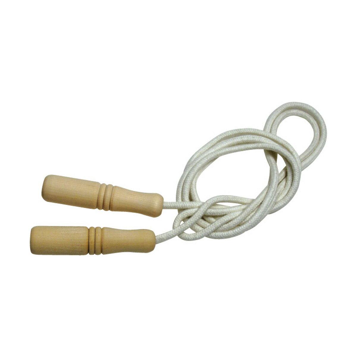 縄跳び 子供用 ロープ 綿 220cm 幼児 木柄 木製グリップ 長さ調節可能 なわとび とびなわ 縄飛び 運動会 体育祭 トレーニング ダイエット