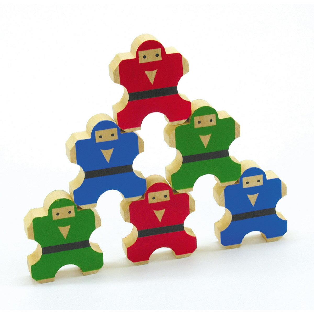 ゲーム のりのり忍者 子供 キッズ ゲーム おもちゃ 木製玩具 木のおもちゃ バランスゲーム 知育玩具 3歳 4歳 5歳 6歳