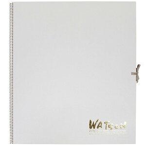 ミューズ 高級水彩紙 ホワイトワトソンブック 中性紙 HW-2410 F10 スケッチ ブック 画材 美術 写生 ノート デザイン イラスト 工作 図工