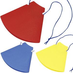 メガホン 応援 折りたたみ ひも付き 体育祭グッズ 運動会 スポーツ 赤 青 黄 コンパクト 拡声器 かわいい 少年野球 おもちゃ 子供 室内