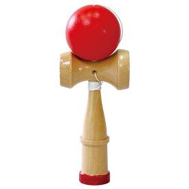 カラーけん玉 赤 子供用 おもちゃ 知育玩具 キッズ けんだま 室内 運動神経 運動 剣玉