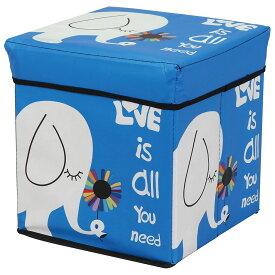 座れる箱型ストレージボックス 収納 お片付け ぞう 像 ゾウ キャラクター おもちゃ 箱 車型 かわいい たためる 男の子 女の子 知育玩具 お片付けボックス