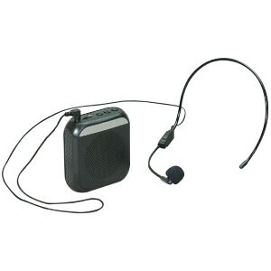 ハンズフリー 小型拡声器 黒 拡声器 小型 マイク付き ヘッドマイク おすすめ usb 会議 受付