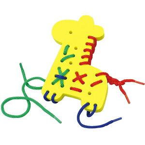 EVAひもとおし キリン おもちゃ 動物 知育玩具 3歳 4歳 パズル ゲーム 幼児 子供 キッズ 幼稚園 保育園 紐通し遊び おすすめ 指先 脳トレ 遊び 室内