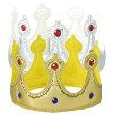 キラキラやわらか かんむり ゴールド 王様 王冠 1歳 3歳 2歳 5歳 おもちゃ 学芸会 お遊戯会 発表会 衣装 コスプレ 仮…