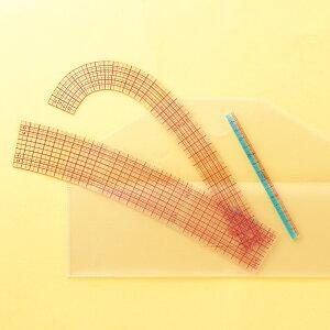 クロバー カーブ定規[ミニものさし付] 25051 Clover 裁縫 ソーイング用品 手芸 さし 定規 製図 趣味 ハンドメイド ホビー