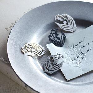 ポルトボヌール すずらんペーパークリップ かわいい おしゃれ 文房具 ステーショナリー 紙クリップ ゼムクリップ インデックスクリップ 日本製 見出し 花 クロバー Clover