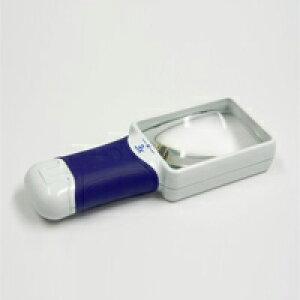 ルーペ LEDライト付き 携帯 おすすめ 虫眼鏡 拡大鏡 弱視 3倍 83×59mm 検査 検品 ロービジョン オートタッチ マックス AT・MAX